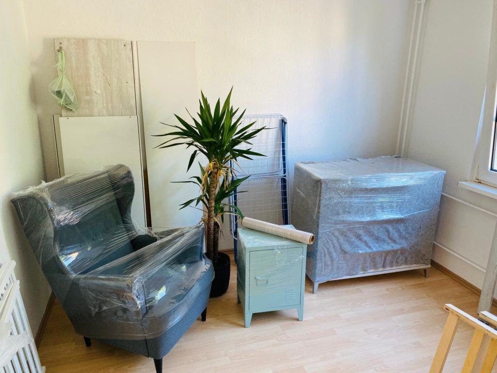 Möbel transportsicher verpackt